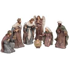 holiday time christmas decoration nativity set 8 pieces walmart com