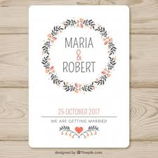 Wedding Invite Template Wedding Invitation Vectors Photos And Psd Files Free Download