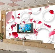 Where To Buy Rose Petals Aliexpress Com Buy Custom 3d Flowers Wallpaper Playing Romantic