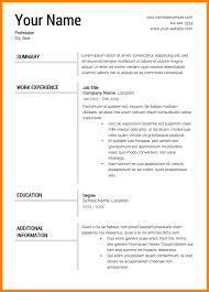 Free Resume Format Template 4 Free Resume Format Latest Cv Format