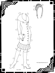 black white paper doll coloring u2022 paper thin personas