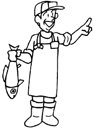 fisherman people coloring pages u0026 coloring book