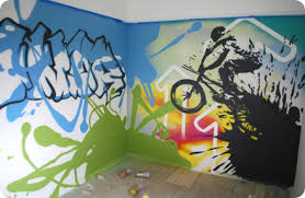 Graffiti Bedrooms Kids Bedroom Artwork Childrens Bedroom - Graffiti bedroom
