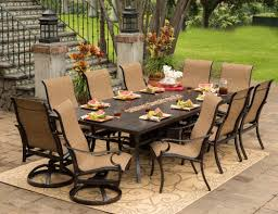 metal patio furniture set eucalyptus table with granite inlay dining set outdoor wood dining