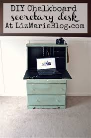 Repurposed Furniture Before And After by Chalkboard Desk U0026 Goodbye Secretary Desks Diy Chalkboard And