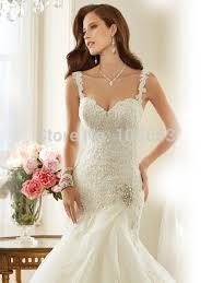 detachable wedding dress straps fashion mermaid spaghetti straps lace beaded detachable