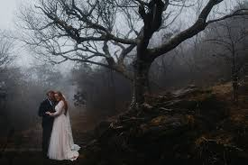 wedding photographers nc ashlyn and aaron foggy craggy gardens elopement asheville nc