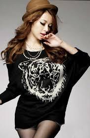gambar model baju sweater terbaru 2015 modern korean style elegan