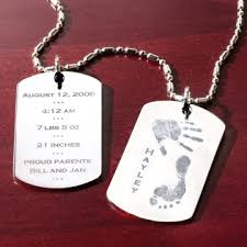 baby dog tags birth celebration tag necklace