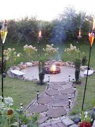 Backyard Patio Ideas With Fire Pit by Affordable Outdoor Patio Ideas With Metal Fire Pit And Stone