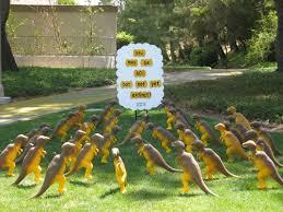Diy Lawn Ornaments T Rex Birthday Celebrate Birthdays