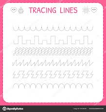 line pattern worksheet trace line worksheet for kids trace the pattern working pages for