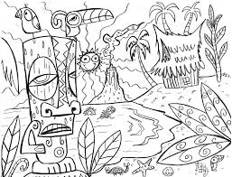hawaiian coloring pages lezardufeu com