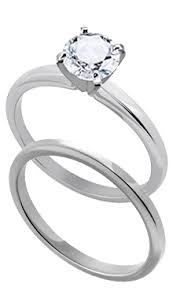 flat engagement rings 14k white gold 2 4 mm flat top medium weight solitaire engagement