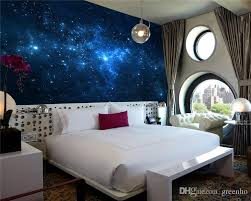 Blue Galaxy Wall Mural Beautiful Nightsky Wallpaper Custom
