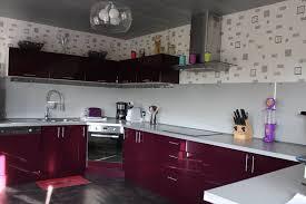 cuisine aubergine et gris meuble cuisine couleur aubergine meuble de cuisine couleur prune