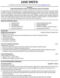 Sample Resume Accounts Receivable Click Here To Download This Taxpayer Services Agent Resume