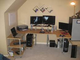 u shaped gaming desk building your own pc wonderful build computer desk also make