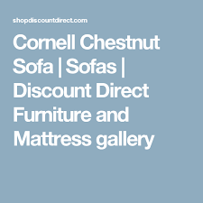 Cornell Chestnut Sofa Sofas Discount Direct Furniture And - Furniture and mattress gallery