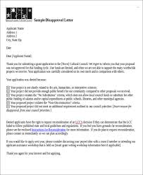 Regret Letter Unable To Join 8 scholarship rejection letter free sle exle format