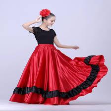 aliexpress com buy spanish flamenco skirt belly dance skirt