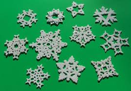 glittered clay snowflakes winter polymers