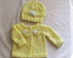baby sweater set etsy