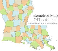 Louisiana Parishes Map by Home Page