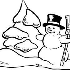 snowman making snow mountain coloring page color luna