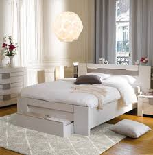 meuble chambre conforama lit led 160x200 cm moka coloris frêne blanchi moka conforama et