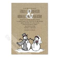 christmas wedding invitations snowman and christmas wedding invitation 10 pk the