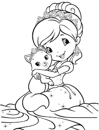 strawberry shortcake princess coloring pages coloring pages kids