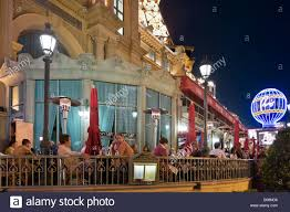 las vegas hotel restaurant terrace at night paris las vegas hotel and casino las