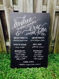 wedding program chalkboard chalkboard wedding program happy tines