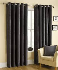 Pewter Curtains Pewter Grey Eyelet Chenille Ready Made Curtains