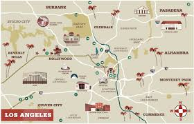 Map Of Burbank Ca Illustrated Journalism Studio Designmatters