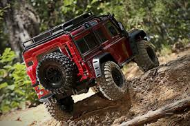red land rover defender this rc land rover defender 4x4 is a totally waterproof off
