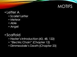 the scarlet letter symbols motifs u0026amp themes terms review