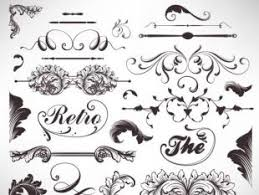 retro object decorative ornaments frames vector free vectors