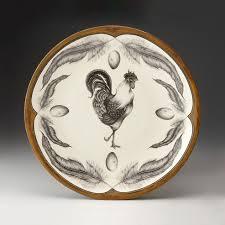 ceramic platter rooster large platter by zindel ceramic platter