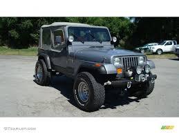 jeep wrangler turquoise 1991 dark silver metallic jeep wrangler sport 4x4 81011600 photo