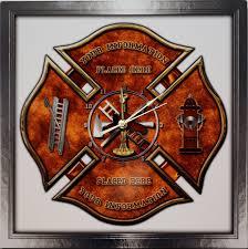 amazon com etta clock personalized maltese cross firefighter amazon com etta clock personalized maltese cross firefighter fireman aluminum shadow wall clock home kitchen