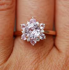 snowflake engagement ring dainty sapphire snowflake engagement ring mon cheri bridals