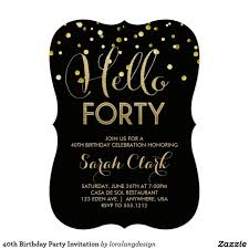 40th birthday invitations messages tags how to make 40th