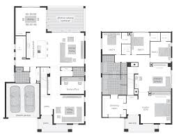 floor plan of modern family house first and second two story
