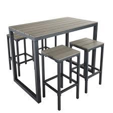 table avec 4 chaises table de jardin haute avec 4 chaises en composite l128 maisons du