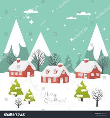 merry christmas greeting card design country stock vector