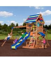Wooden Backyard Playsets Deals On Kids Swing Sets Are Going Fast