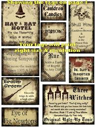 free halloween gift tags 20 potions labels magical tags whimsical and plain printables u