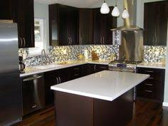 Mocha Kitchen Cabinets by Blue Cabinets Dark Tile Floors Tile At An Angle Instead Of